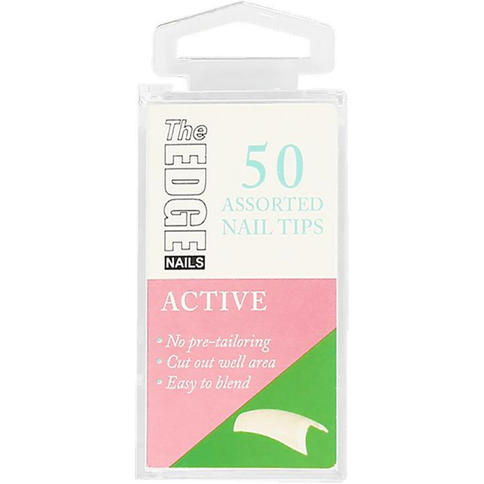 The Edge Active Nail Tips - Boxes of 50 Tips - Size 3