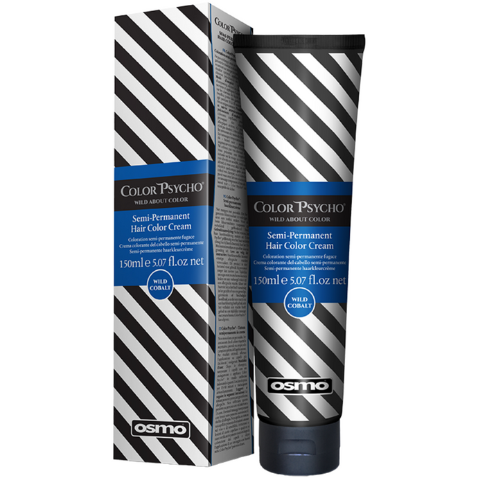 OSMO Color Psycho Semi-Permanent Hair Colour - 150ml - Wild Cobalt