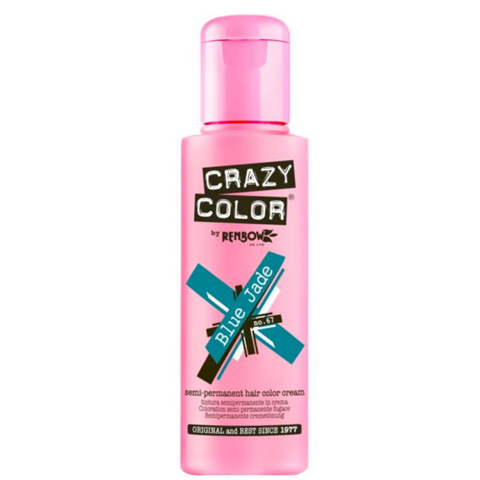 Crazy Colour Blue Jade Hair Dye 100ml