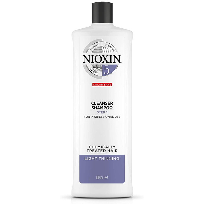 Nioxin System 5 Shampoo for Chemically Treated Hair with Light Thinning 1L