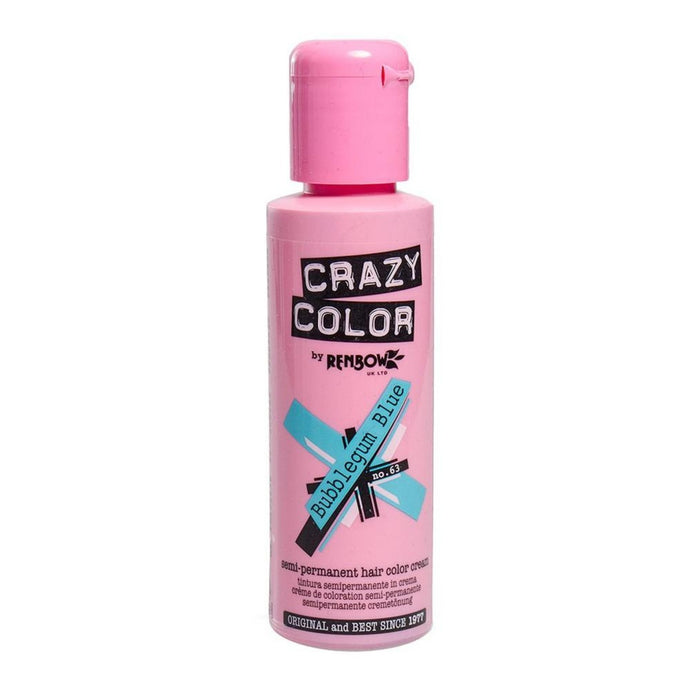 Crazy Colour Bubblegum Blue Hair Dye 100ml