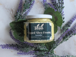 A picture of the lavender whipped shea frosting