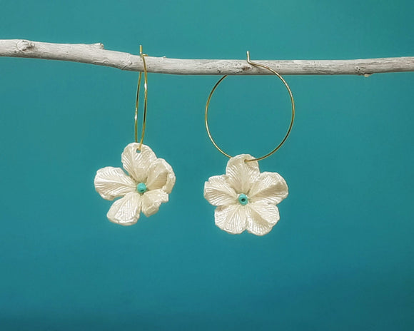 Art Nouveau Flower Hoops