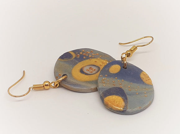 Galaxy Disc Earrings
