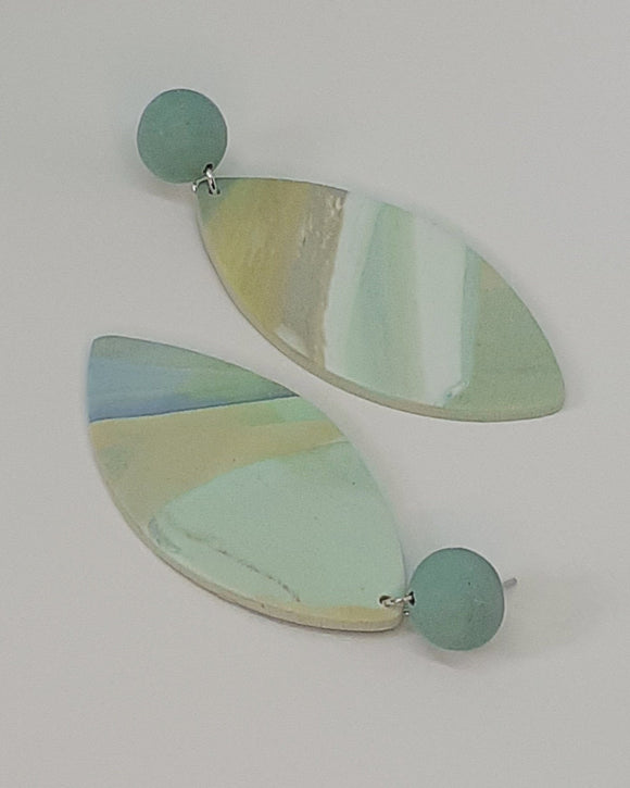Turquoise Marble Aine Earrings