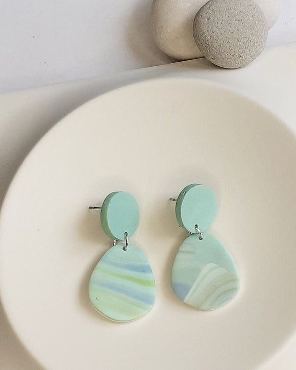 Turquoise Marble Mia Studs