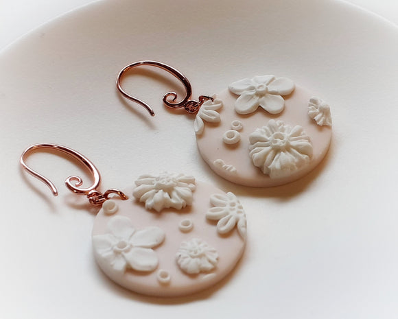 Blush Floral Earrings