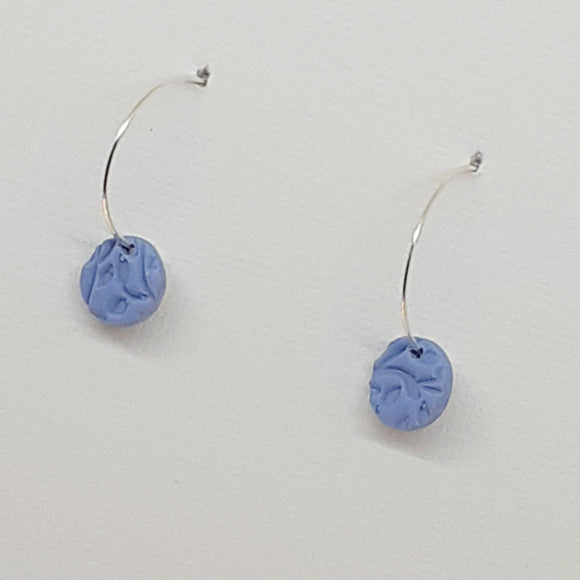 Dainty Blue Hoop Earrings