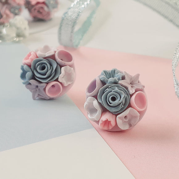 Flower bouquet studs - mixed colours