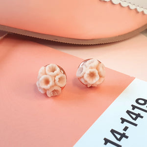 Rose gold posy studs