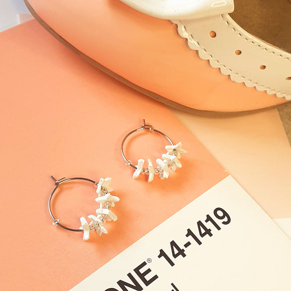 White star-flower hoops