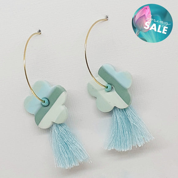 70S Tassel Flower Hoops