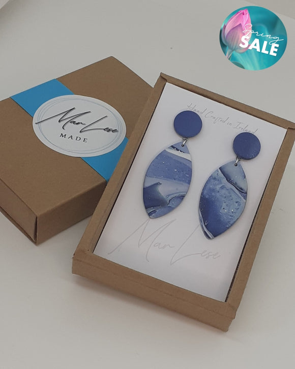 Blue Denim Aine Earrings