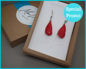 Bold Red Earrings