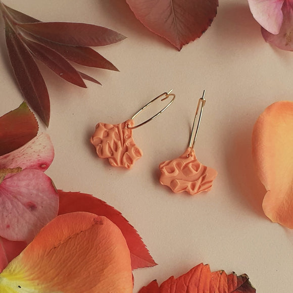 Coral Ginko Hoops