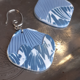 Shades of blue statement earrings