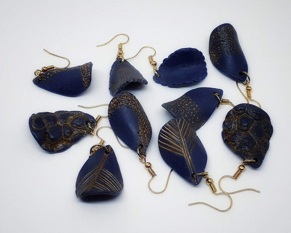Classic Blue Statement Earrings