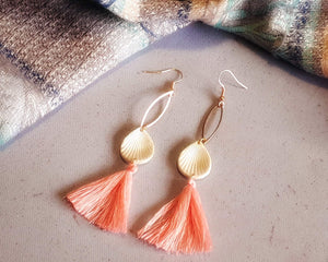 Salmon Coloured Gatsby Earrings