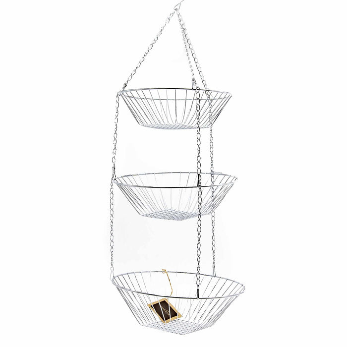 3-Tier Hanging Basket Chrome - Mortise And Tenon