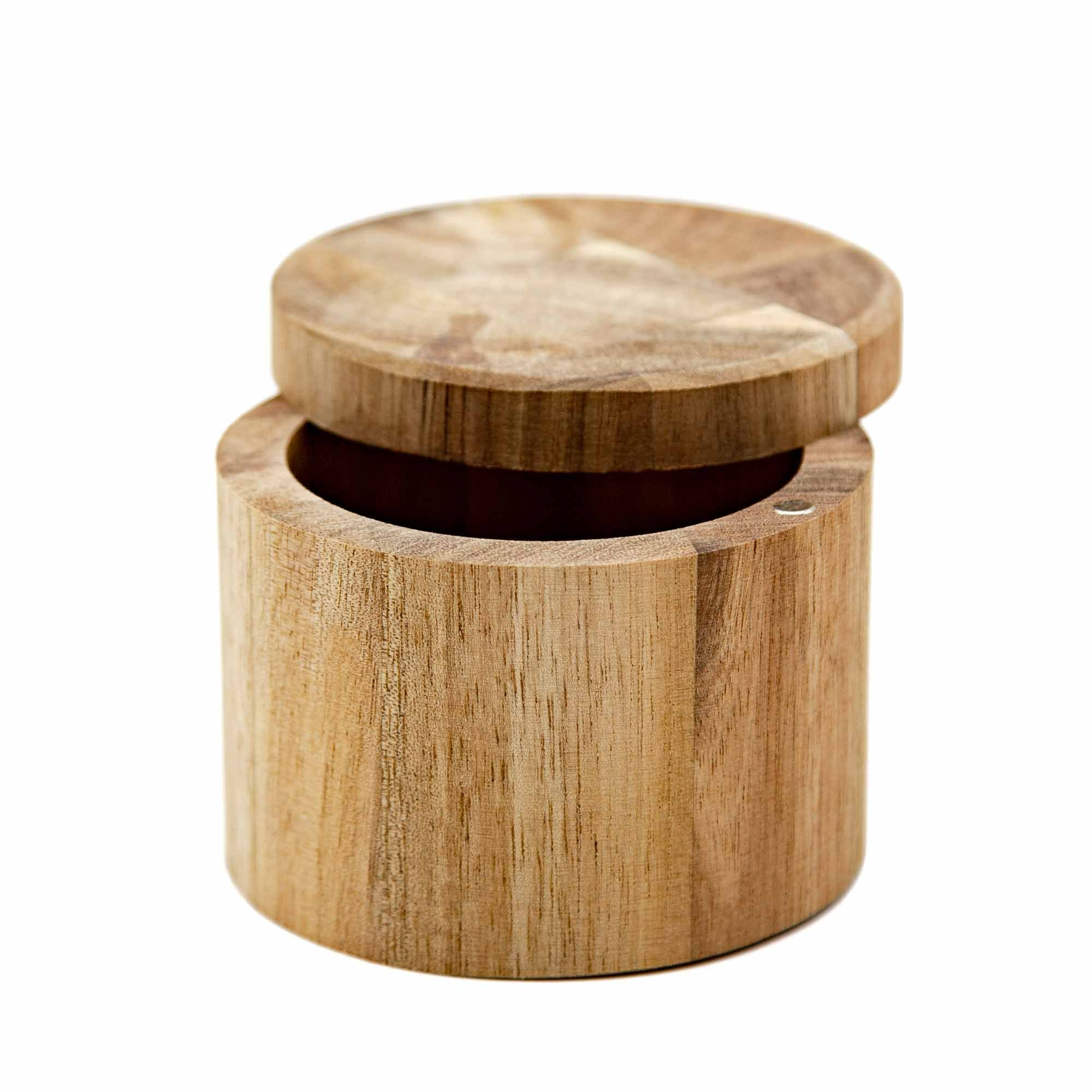 Acacia Swivel-Lid Salt Cellar - Mortise And Tenon