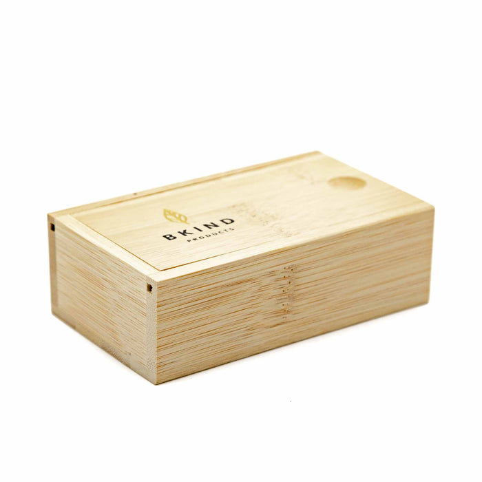 BKIND Bamboo Case for Shampoo/Conditioner - Mortise And Tenon