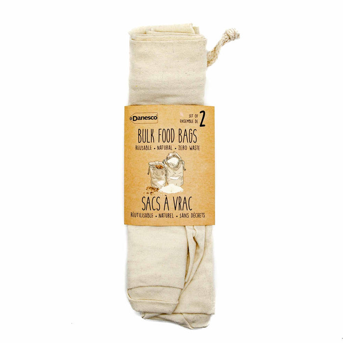 Danesco Cotton Bulk Food Bags - 2 Pack - Mortise And Tenon
