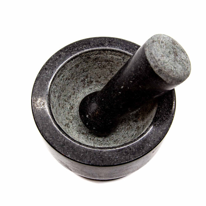 Granite Double Sided Mortar & Pestle - Mortise And Tenon