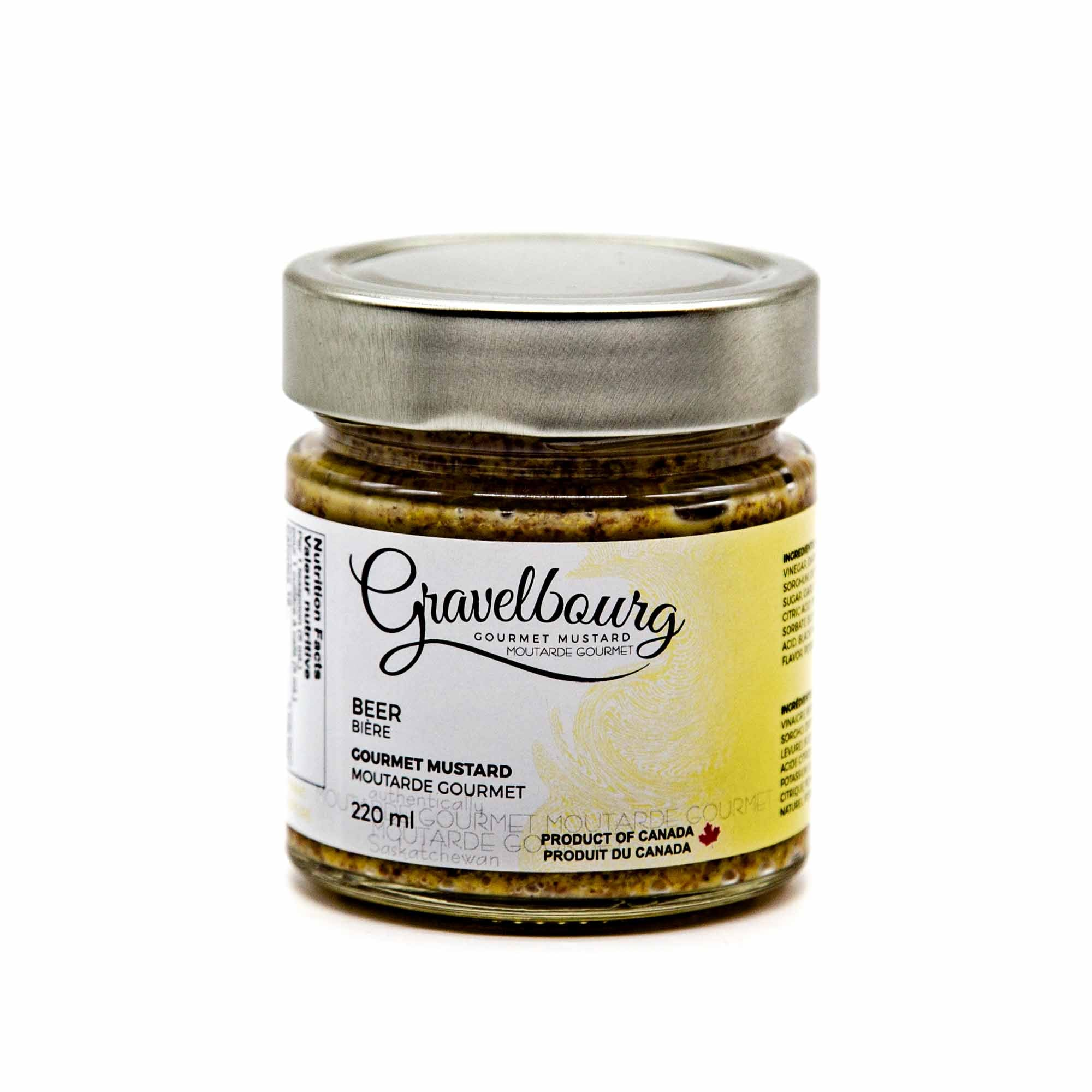 Gravelbourg Mustard - Beer Style Gourmet Mustard - Mortise And Tenon