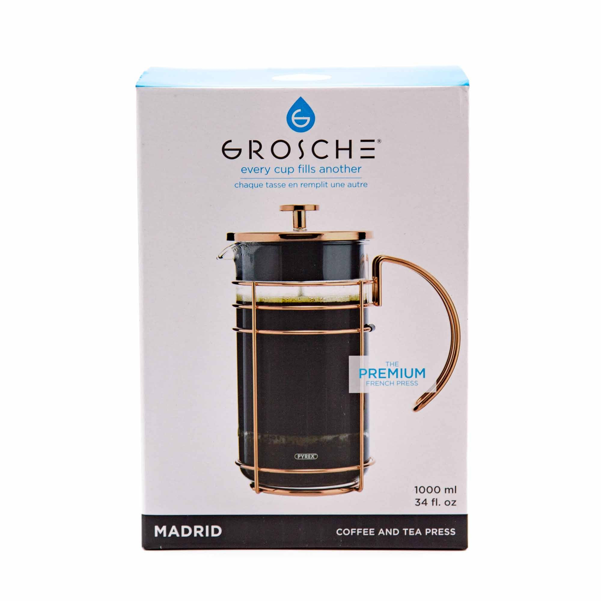 Grosche MADRID Rose Gold French Press - Mortise And Tenon