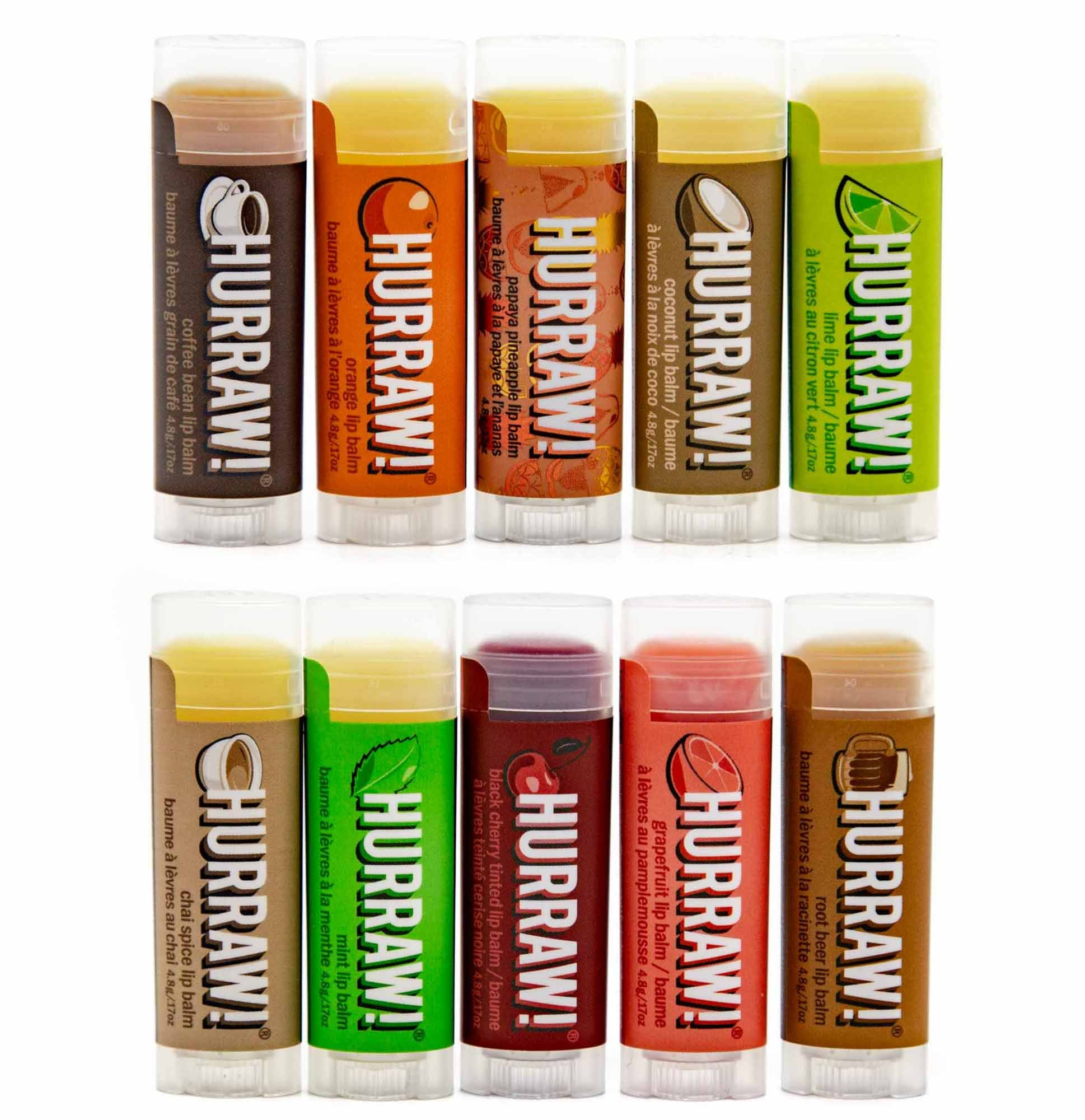 Hurraw! Lip Balm - 10 Flavours - Mortise And Tenon