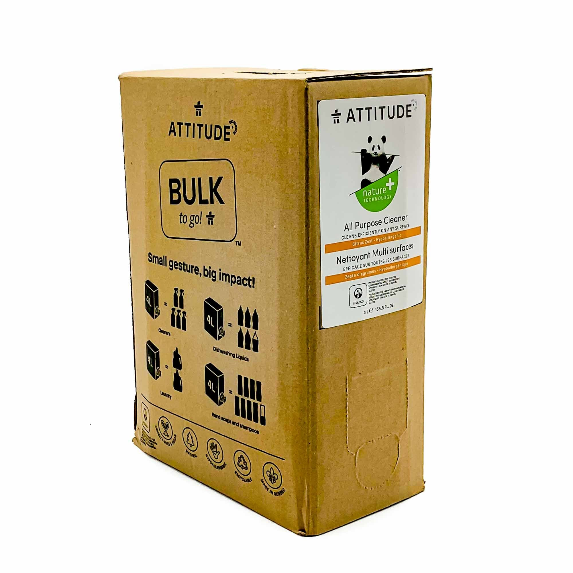 ATTITUDE Bulk To Go All Purpose Cleaner Citrus Zest - Mortise And Tenon