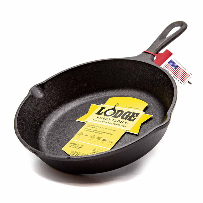 "Lodge 8"" Cast Iron Skillet - Mortise And Tenon"