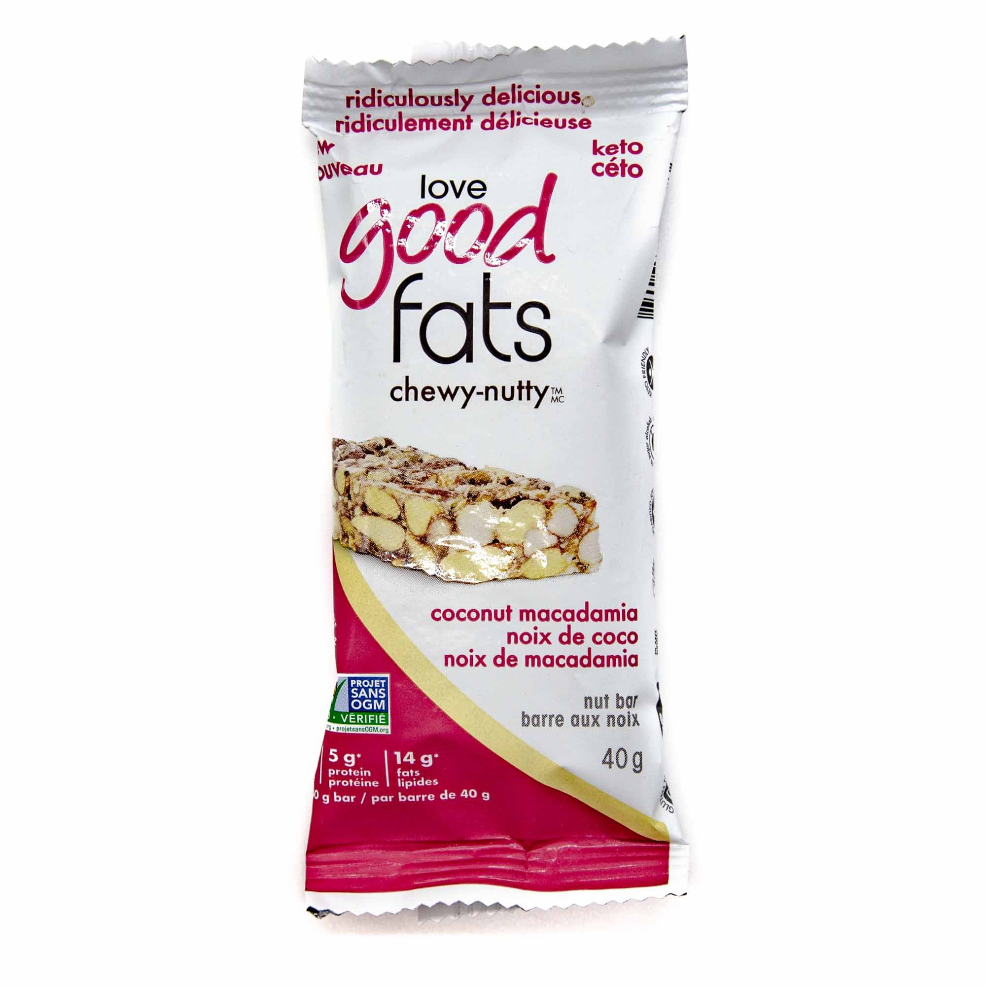 Love Good Fats - Chewy Nutty Coconut Macadamia - Mortise And Tenon
