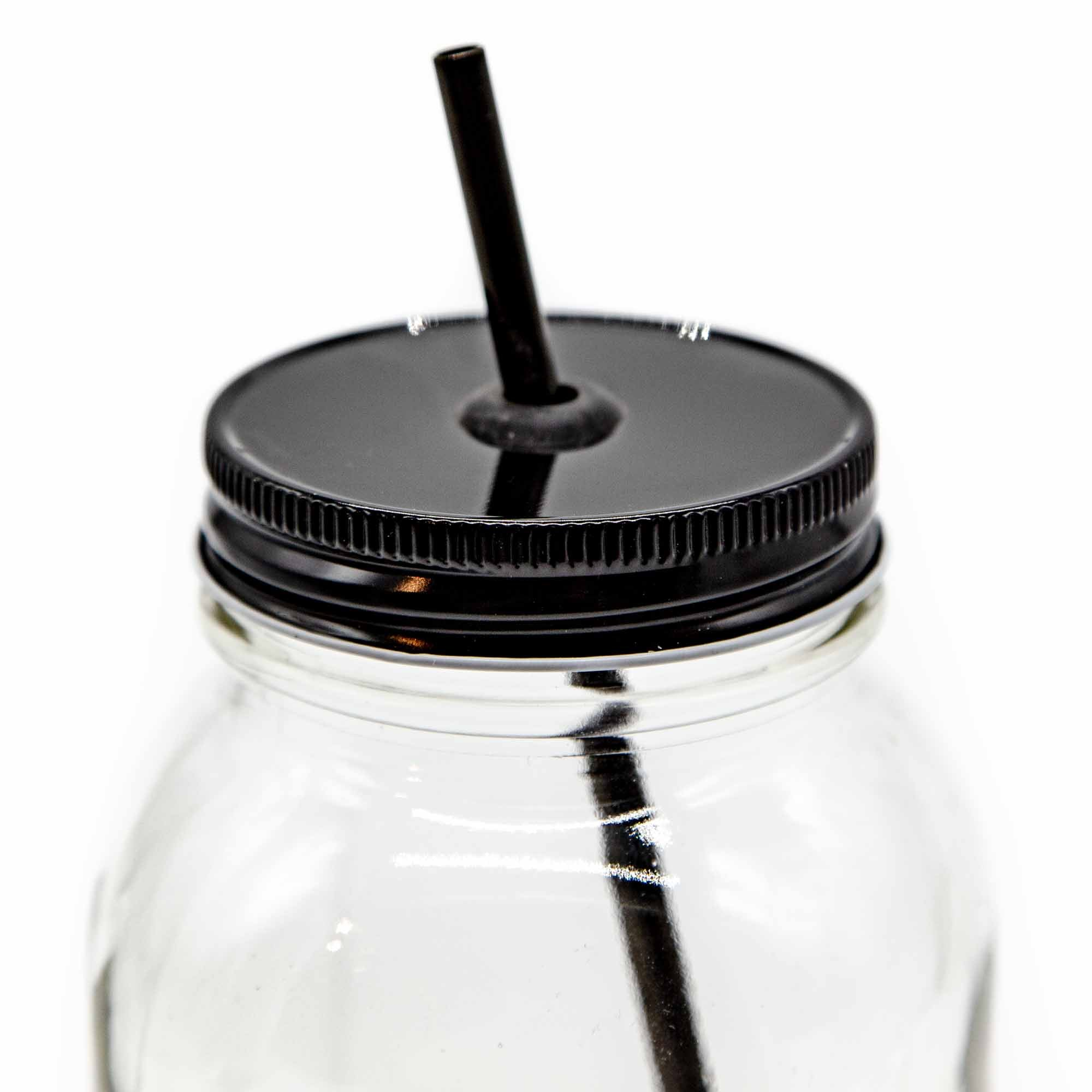 Mason Jar Lids with Straw Hole - 7 Colours - Mortise And Tenon