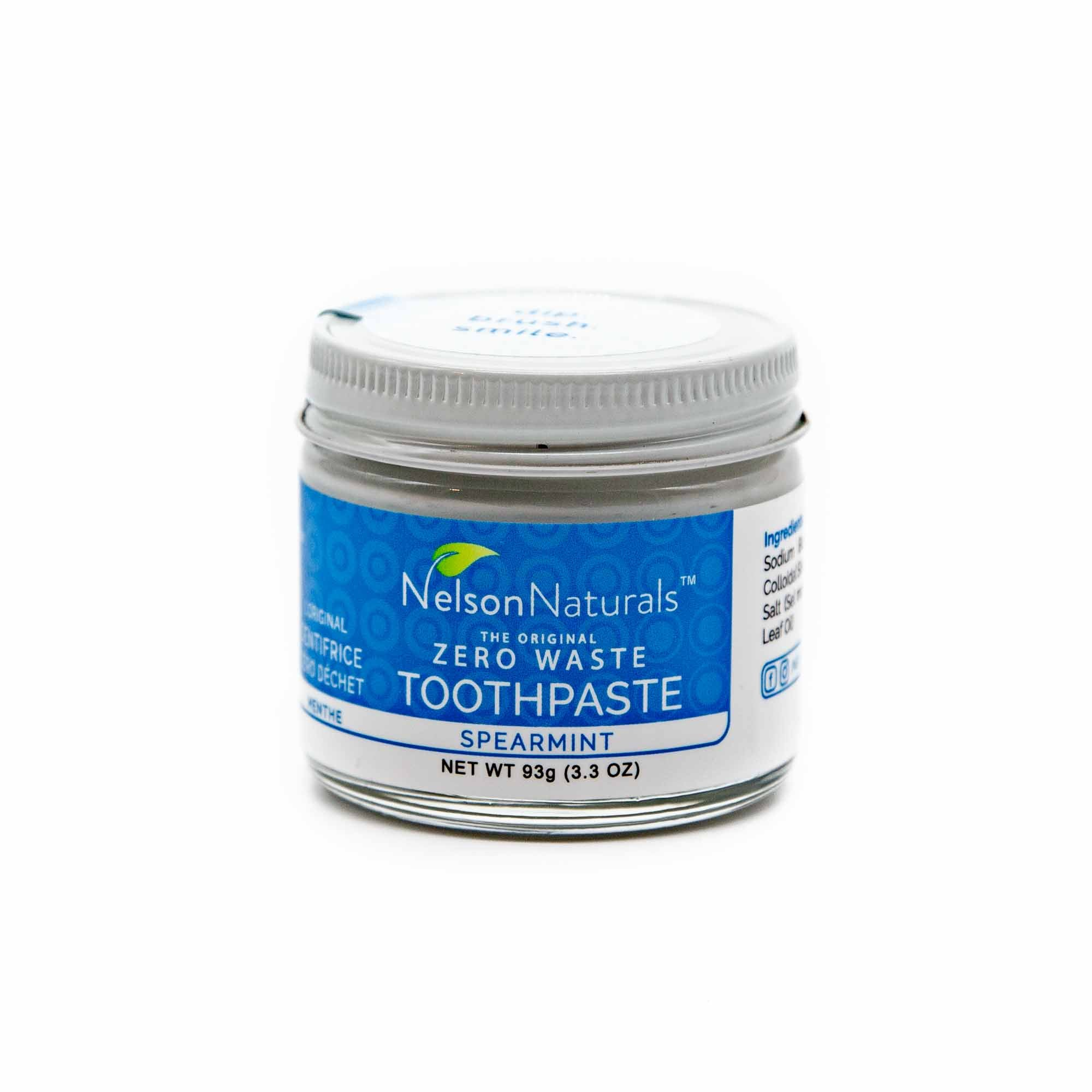Nelson Naturals Spearmint Toothpaste - Mortise And Tenon