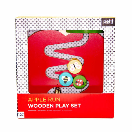 Petit Collage Wooden Apple Run Playset - Mortise And Tenon