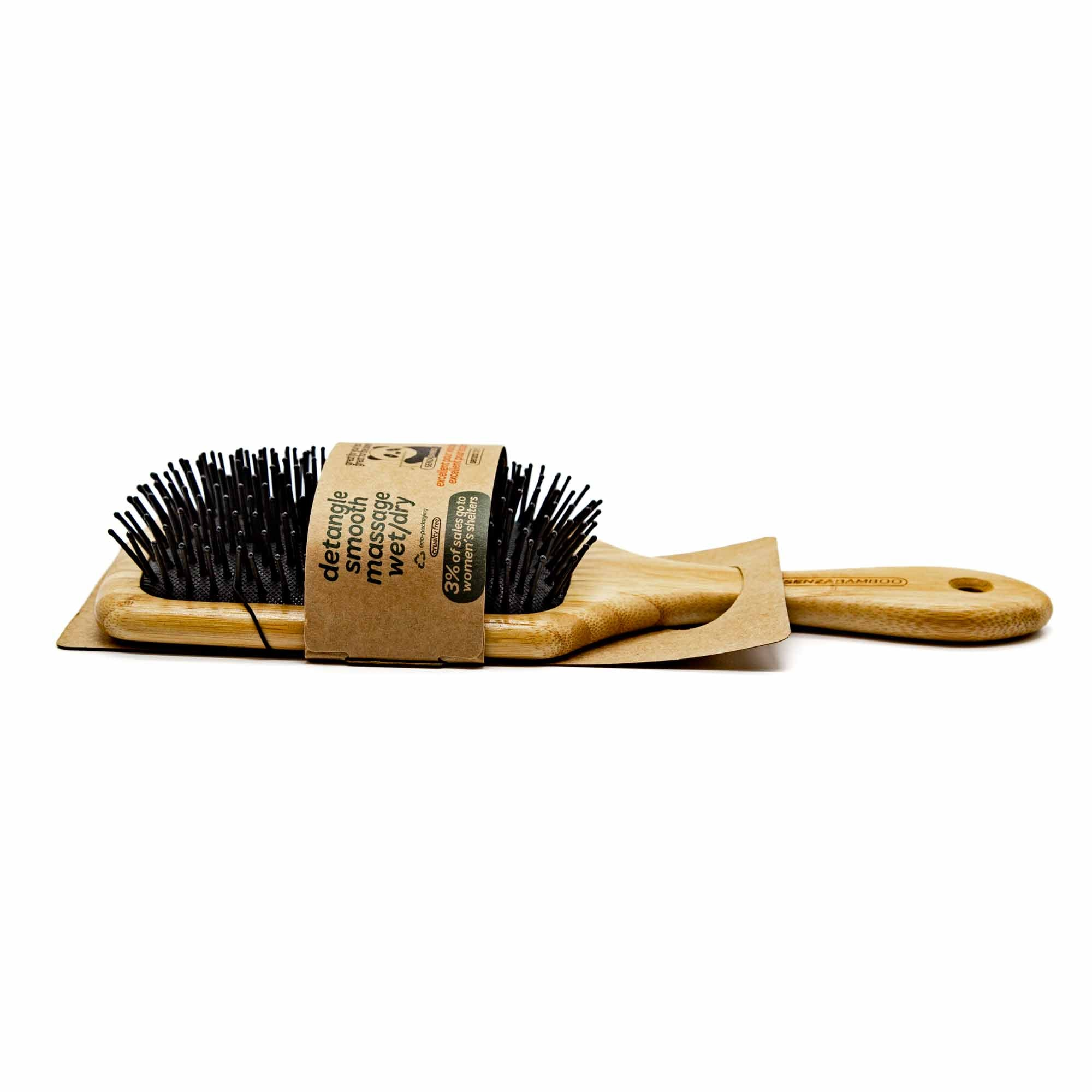 Senza Bamboo Paddle Brush - Mortise And Tenon