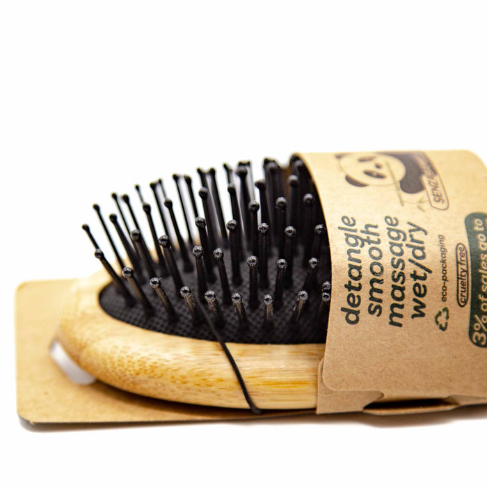 Senzacare Small Bamboo Hairbrush - Mortise And Tenon