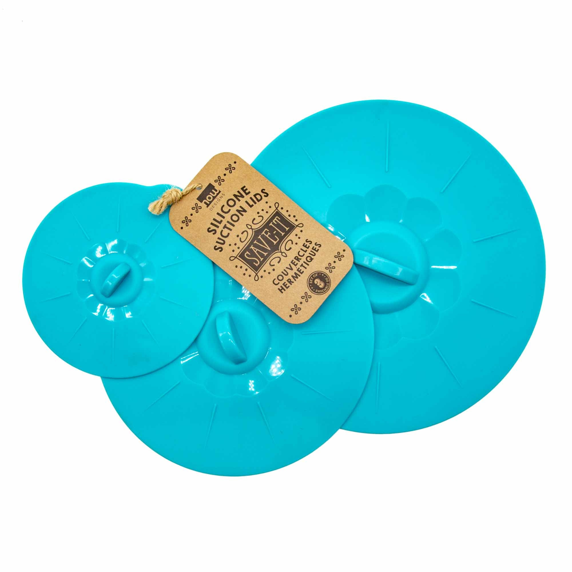 Silicone Suction Lids - Set of 3 - 4 Colours - Mortise And Tenon