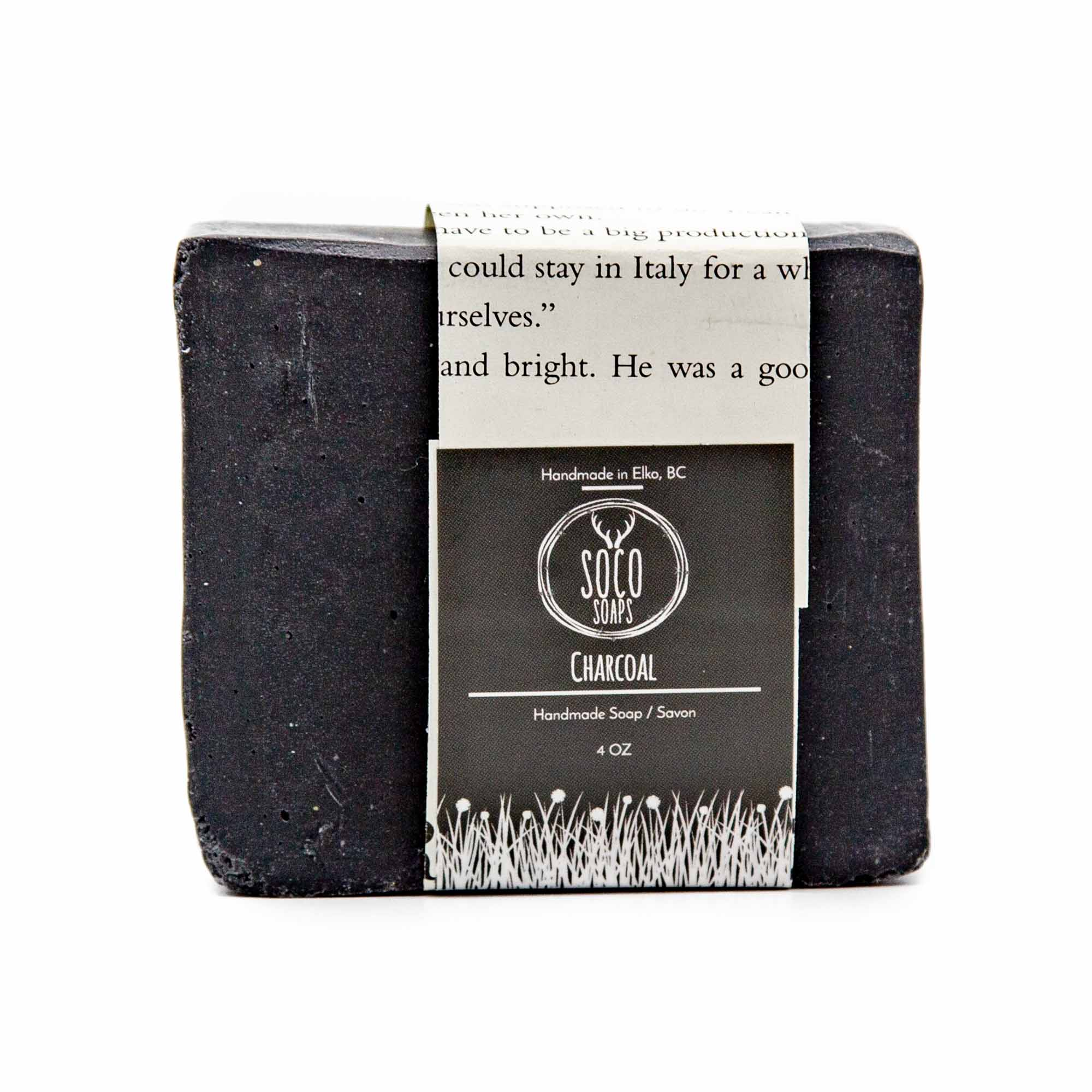 Soco Soaps Charcoal Face + Body Soap - Mortise And Tenon