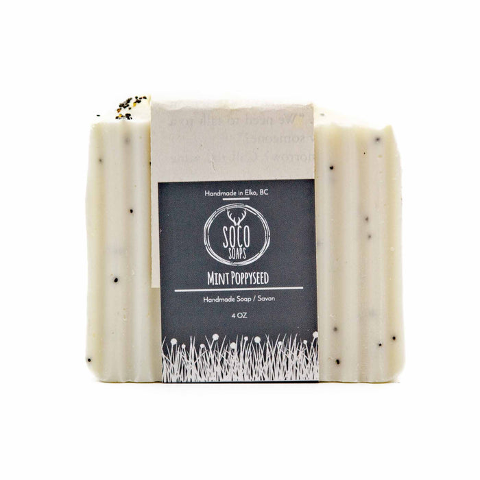 Soco Soaps Mint Poppyseed Soap - Mortise And Tenon