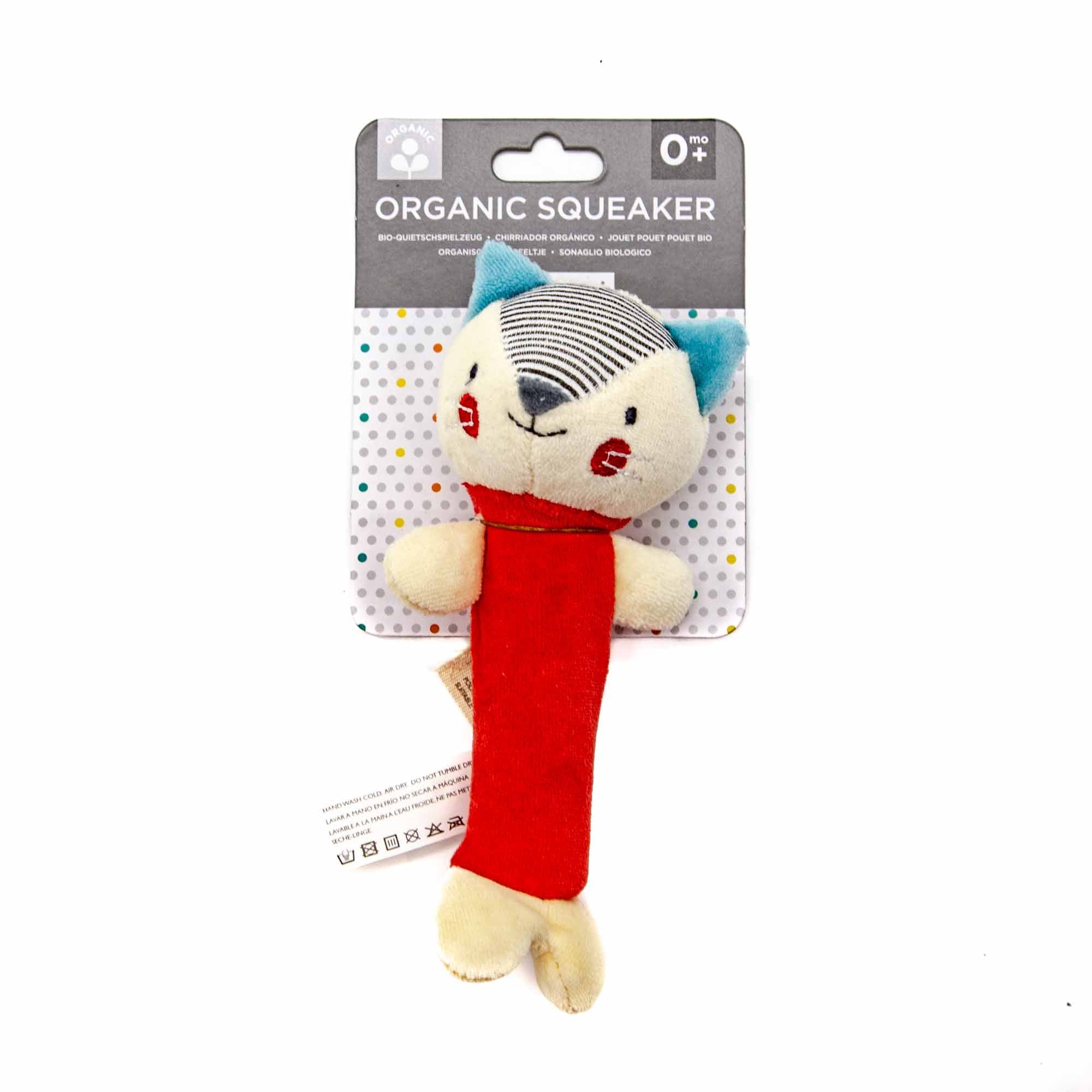 Wild + Wolf Organic Fox Squeaker Toy - Mortise And Tenon