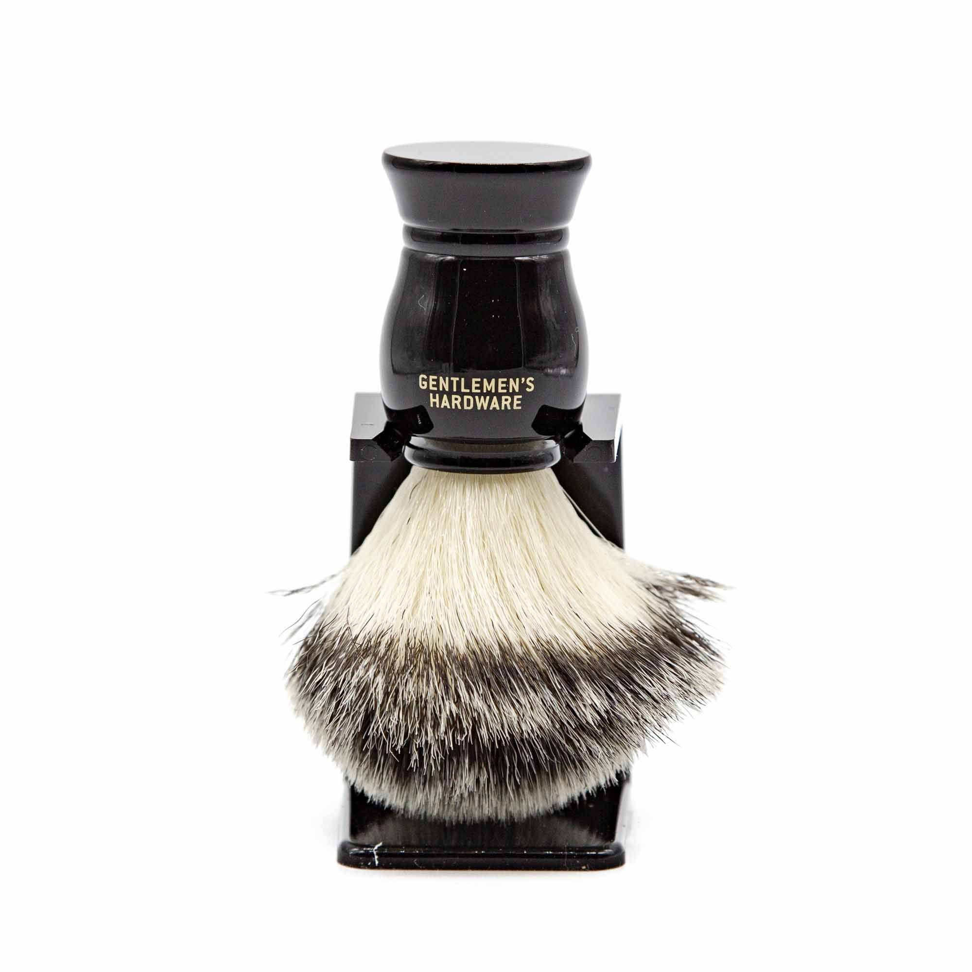 Gentlemen's Hardware Shave Brush & Stand - Mortise And Tenon