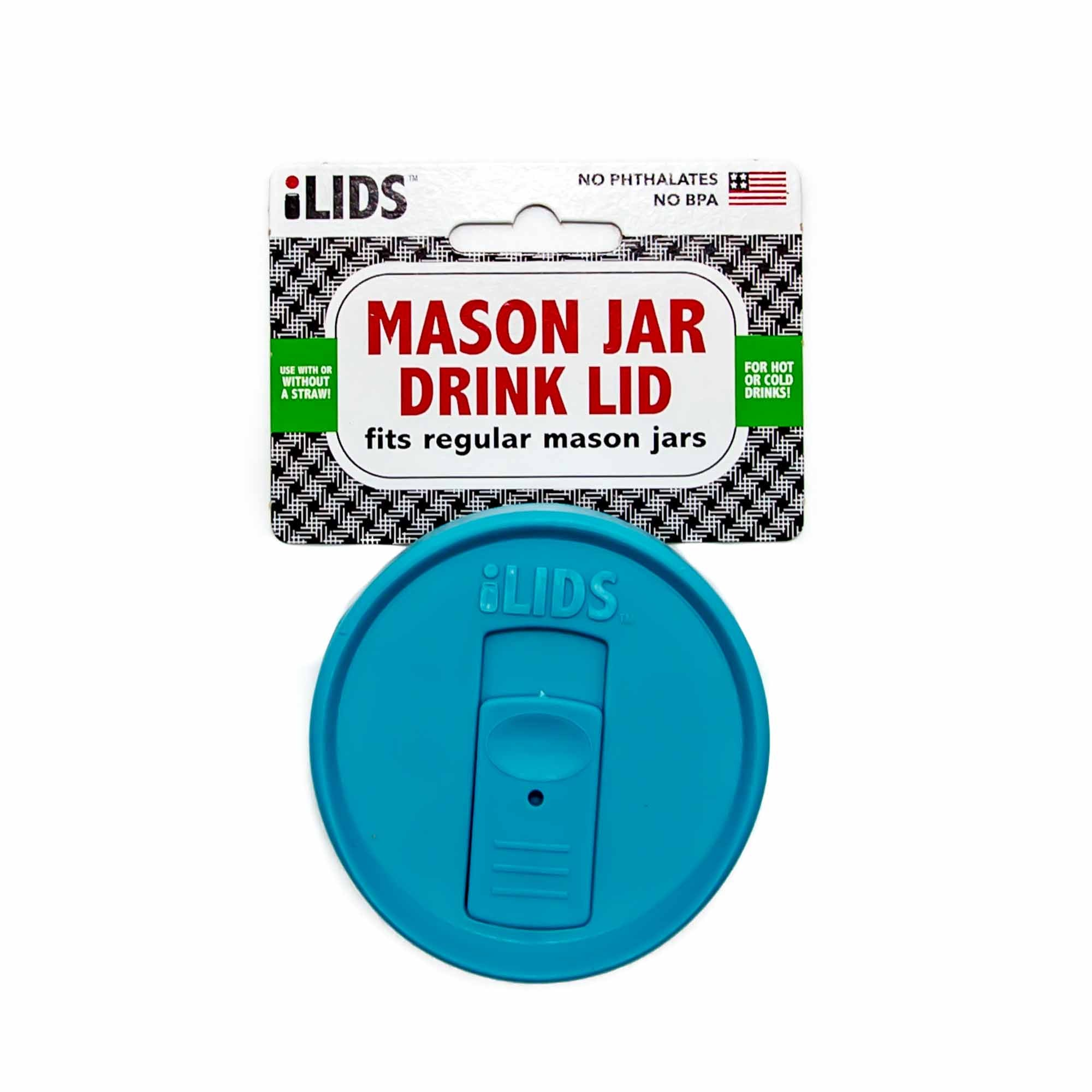 iLid Regular Mouth Mason Jar Drink Lid - 12 Colours - Mortise And Tenon