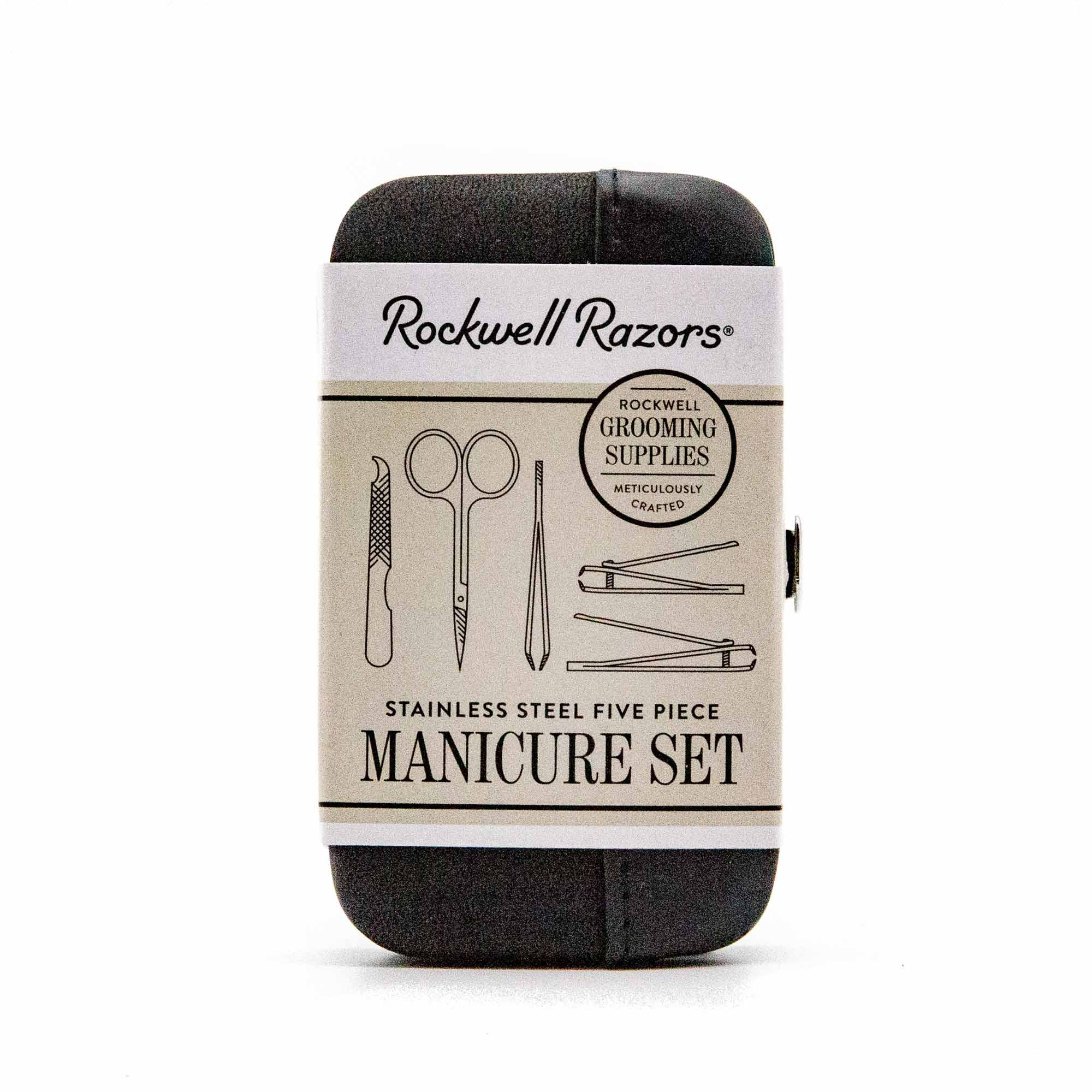 Rockwell Razors Stainless Steel Five Piece Manicure Set - Mortise And Tenon