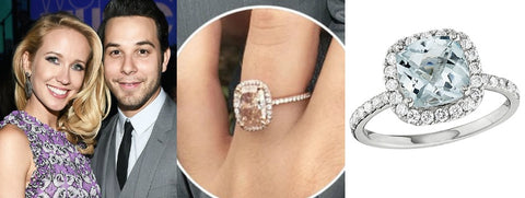celebrity engagement rings halo