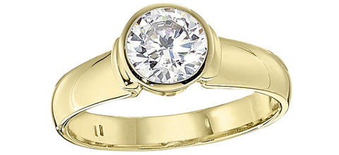 bezel engagement ring settings