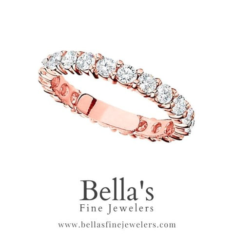 rose gold eternity band, rose gold eternity ring, gold wedding bands