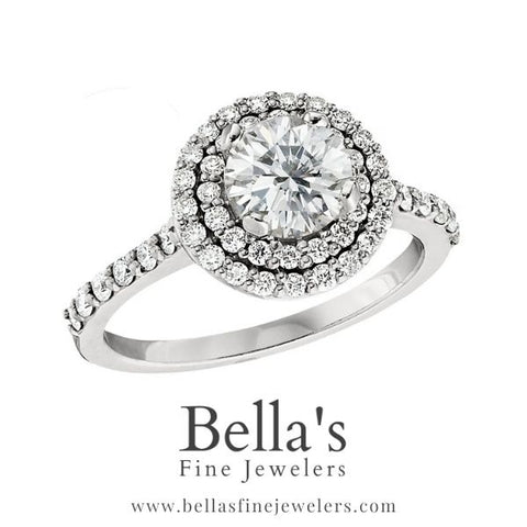 double halo engagement ring, engagement ring diamond arounds, diamond engagement rings