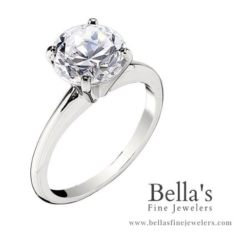 Cathedral Solitaire Engagement Ring, Big Solitaire Rings